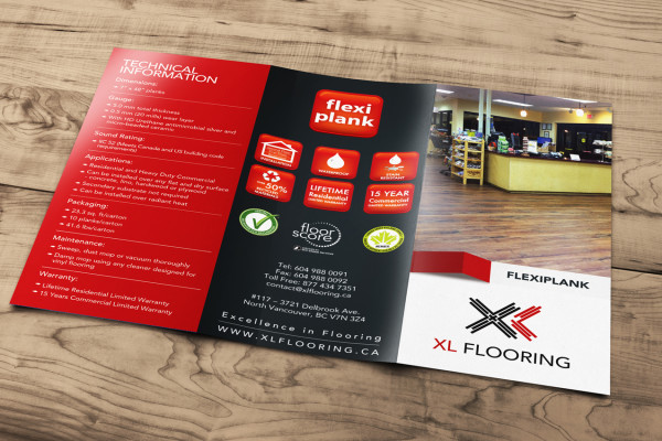 Brochure design for XL Flooring