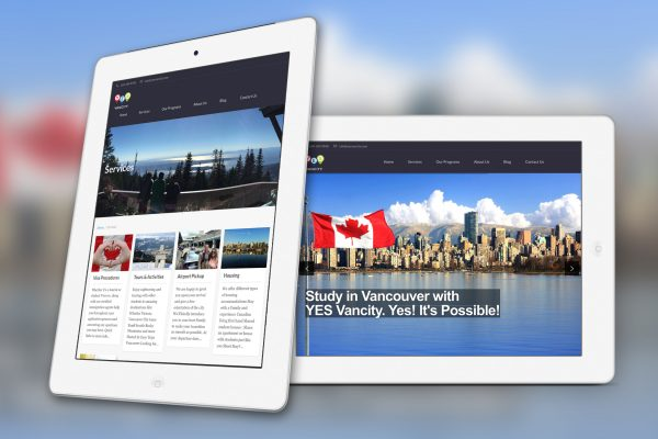 WordPress Web Design for Yes Vancity