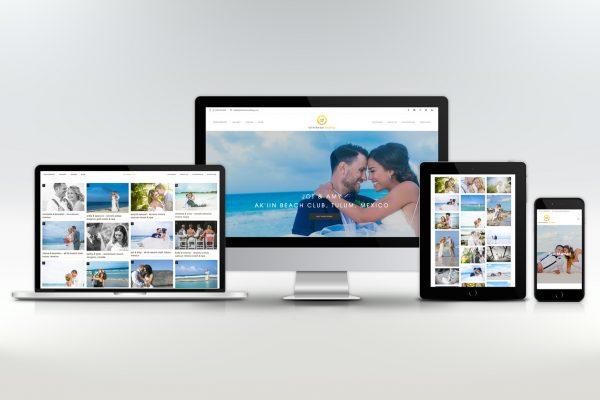 Web Design for Fun in the Sun Weddings