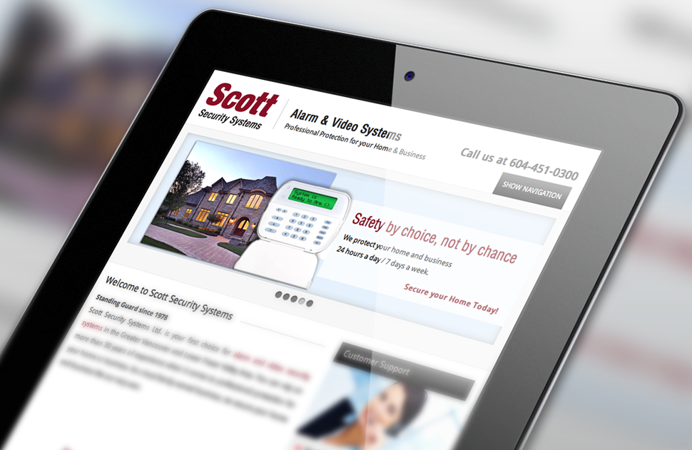 Responsive Web Design for Scott Security