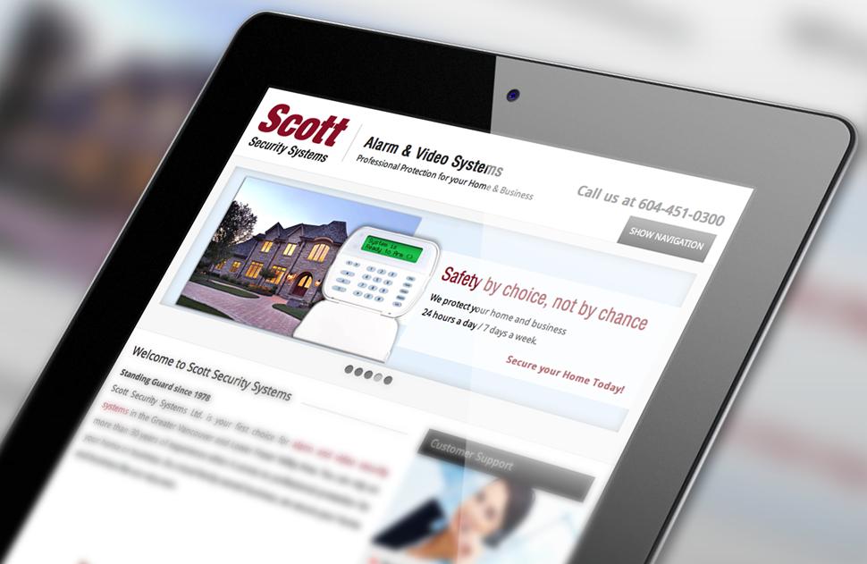 Responsive Web Design for Scott Security