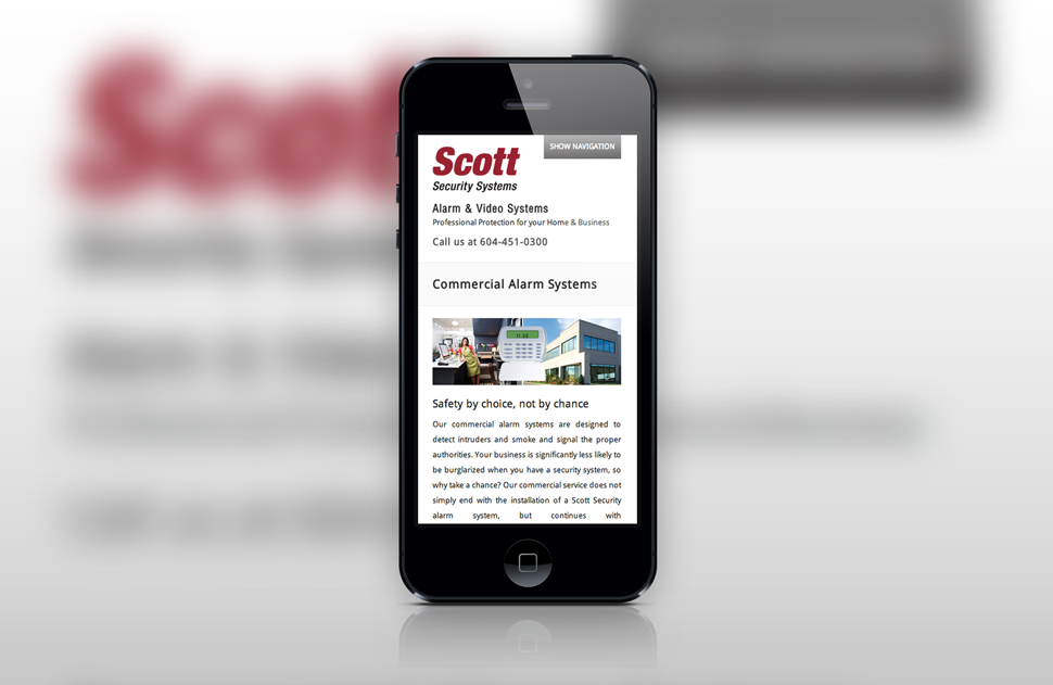 Responsive Web Design by Solocube Creaive - iPhone Version