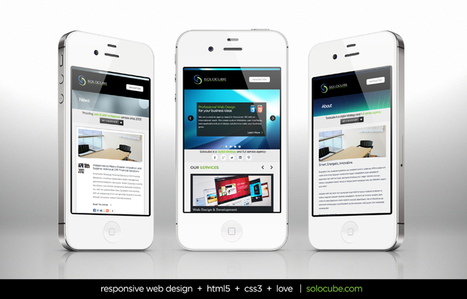 Mobile Responsive Website of Solocube Creative