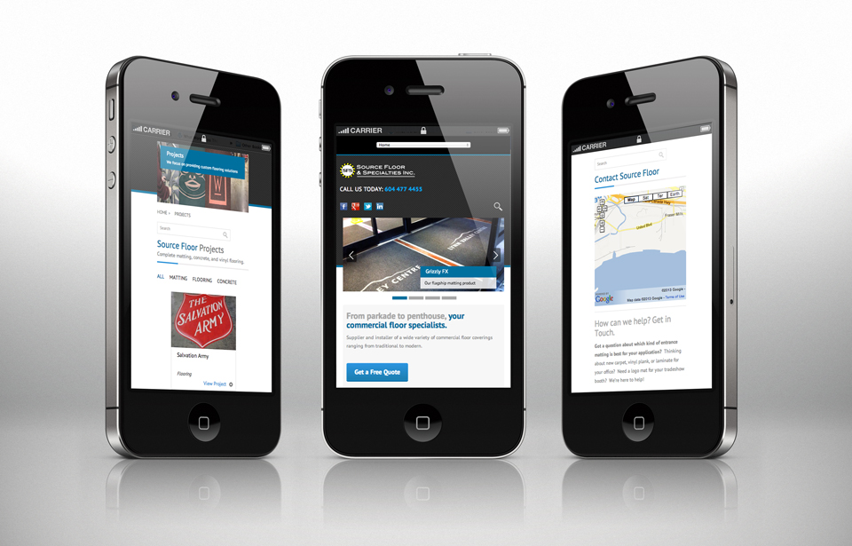 Mobile Web Designin Vancouver by Solocube Creative