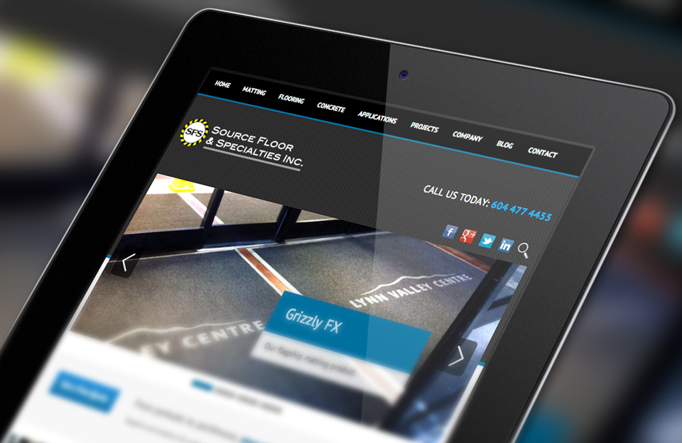 Tablet Mobile Web Design by Solocube Creative