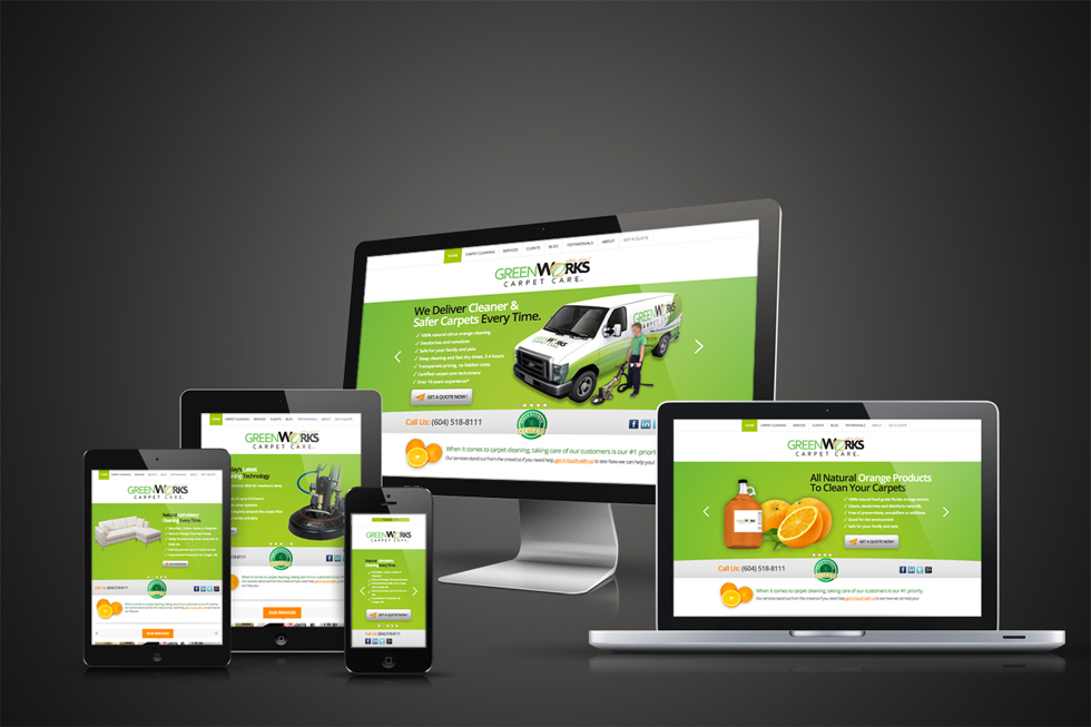 GreenWorks Responsive Website by Solocube