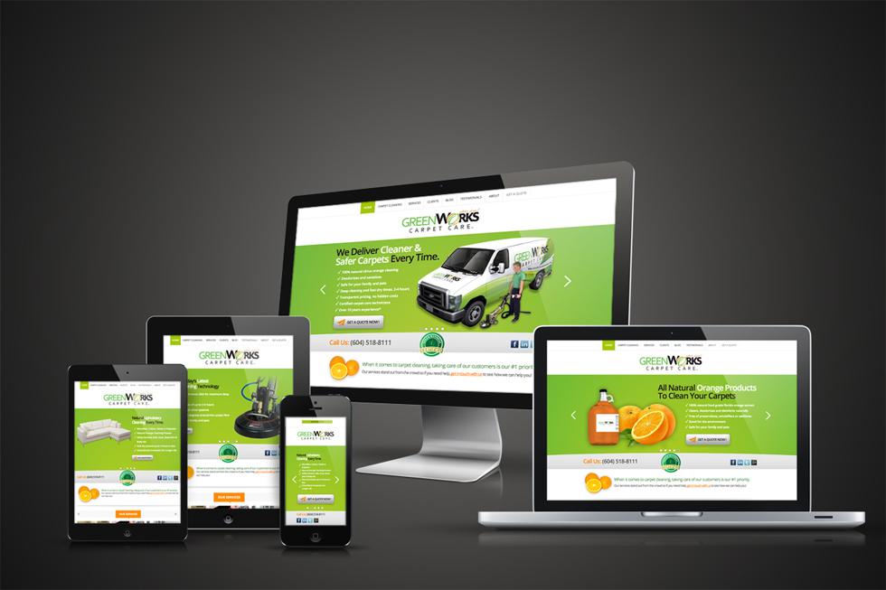 GreenWorks Responsive Website by Solocube