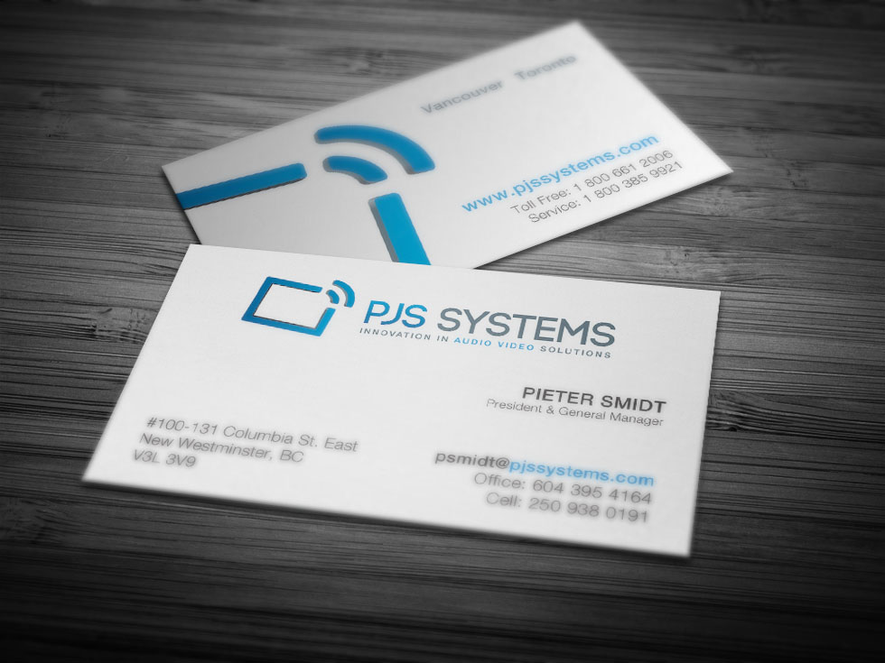 PJS Systems Business Card Design by Solocube Creative