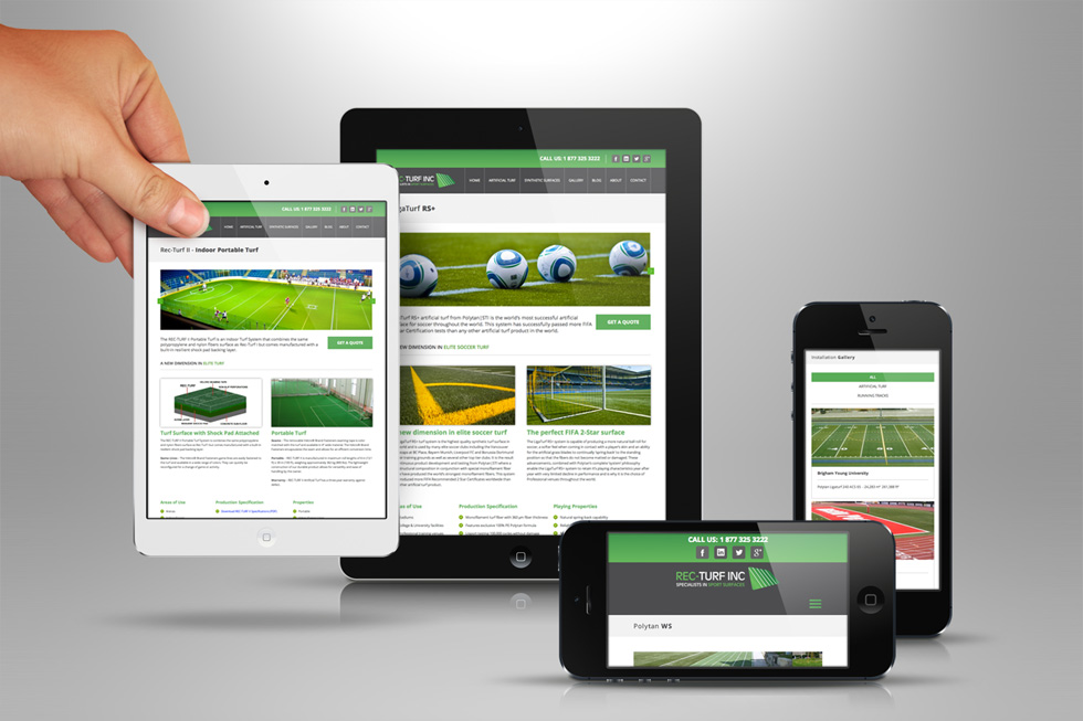 Rec-Turf Gets New and Improved Website from Solocube Creative