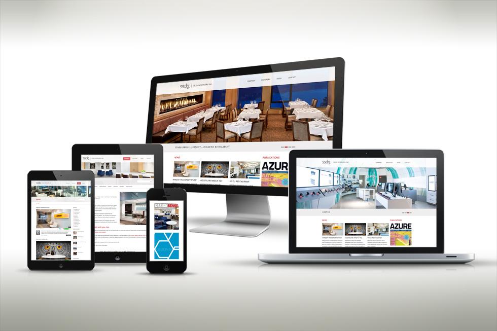 SSDG Interiors Responsive Web Design by Solocube Creative