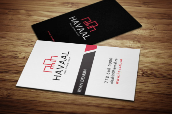 Business Card Design for Havaal Real Estate Group