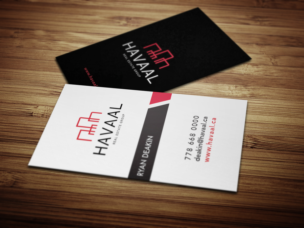 Business card design for havaal real estate group solocube creative business card design for havaal real estate group 1 reheart Gallery