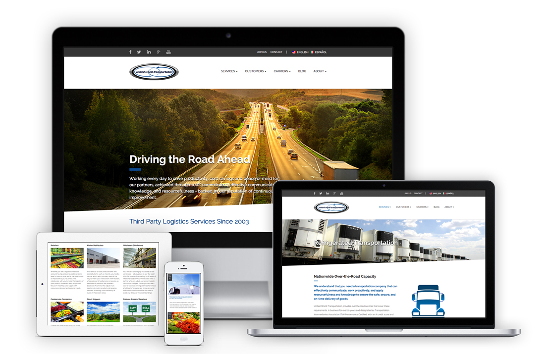 United World Transportation Accelerates Itself into 2015 and Beyond with a Brand New Website