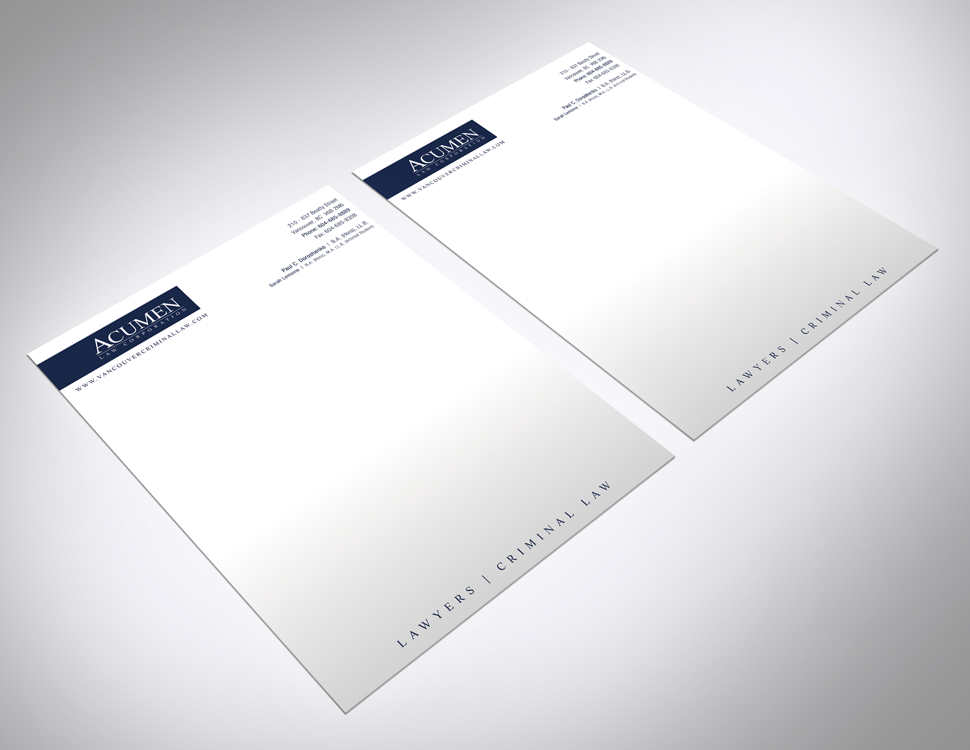Acumen Law Letterhead Design 01 By Solocube Creative