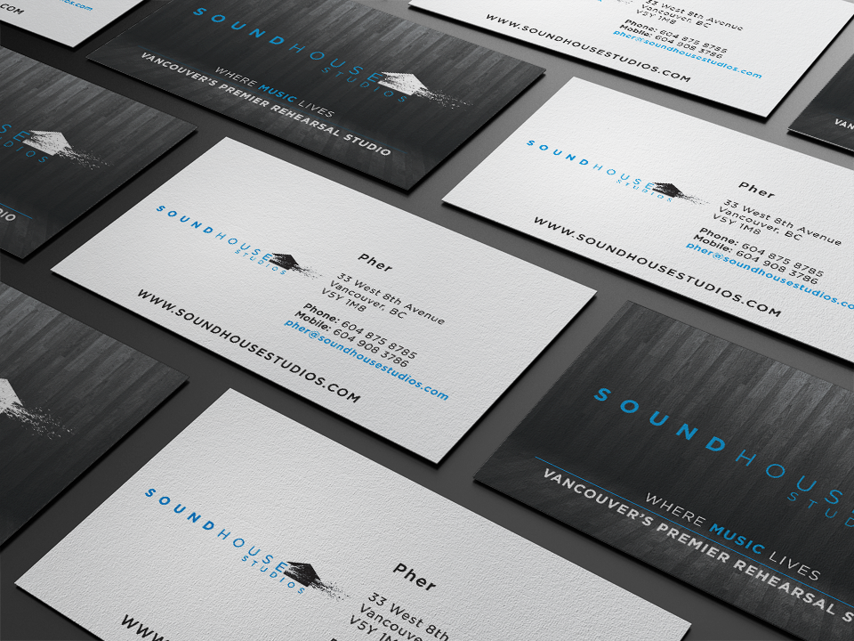 Soundhouse business cards by solocube creative solocube creative soundhouse business cards by solocube creative reheart Image collections