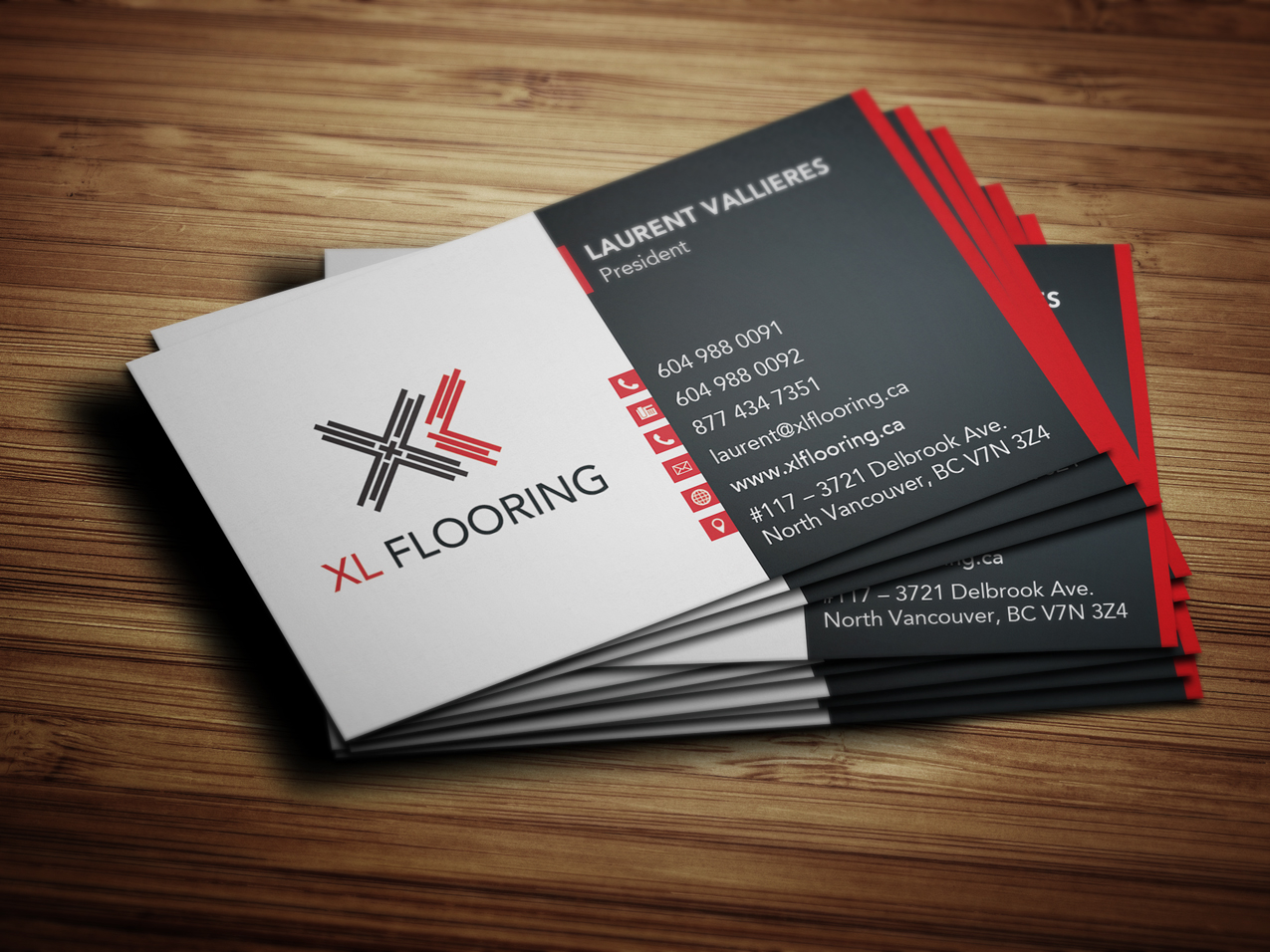 Business card design for xl flooring solocube creative reheart Gallery