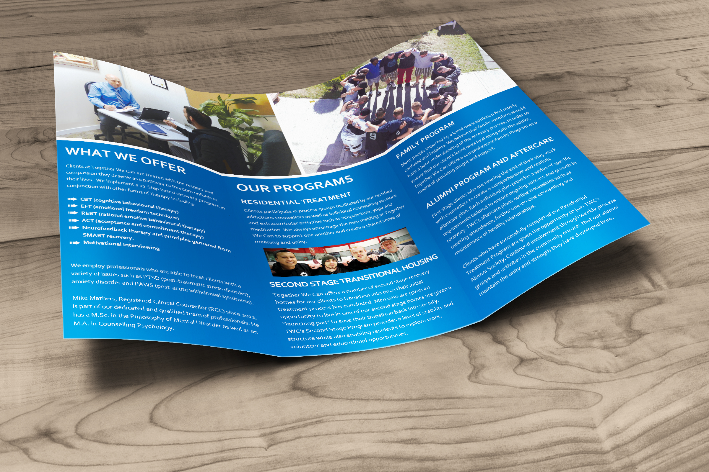 brochure design for together we can solocube creative