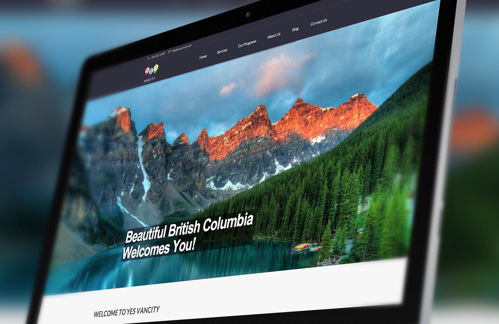 Web Design For Yes Vancity