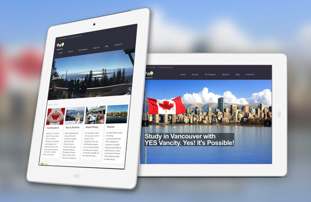 Web Design For Yes Vancity