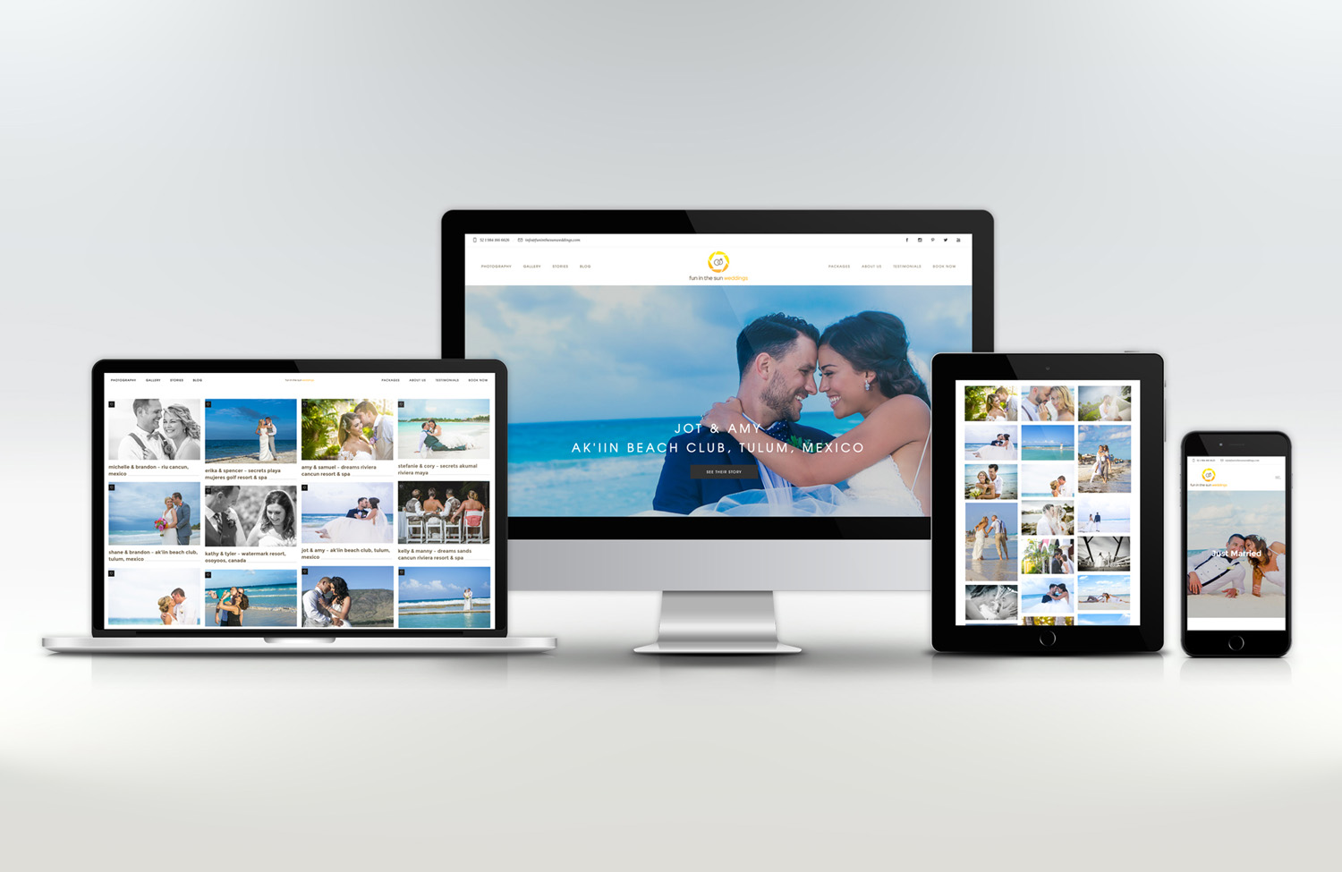 Destination Wedding Photography Website