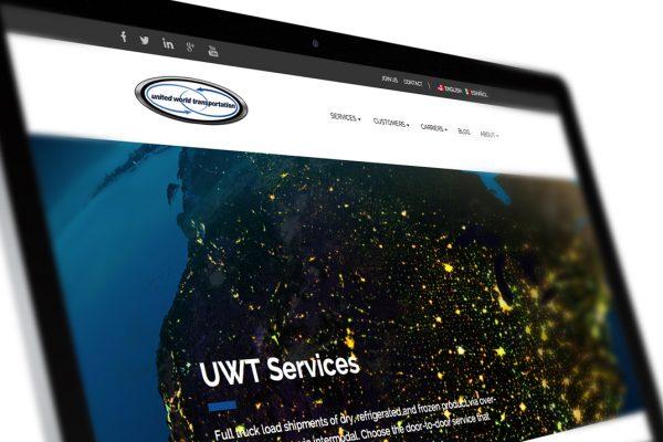 Web Design for United World Transportation