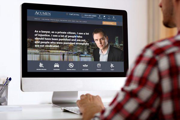 Web Design for Acumen Law