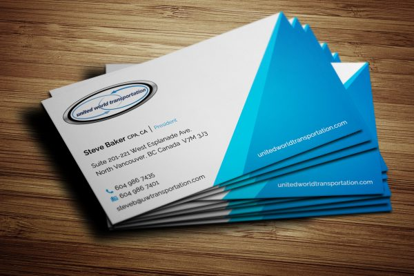 Business Card Design for United World Transportation