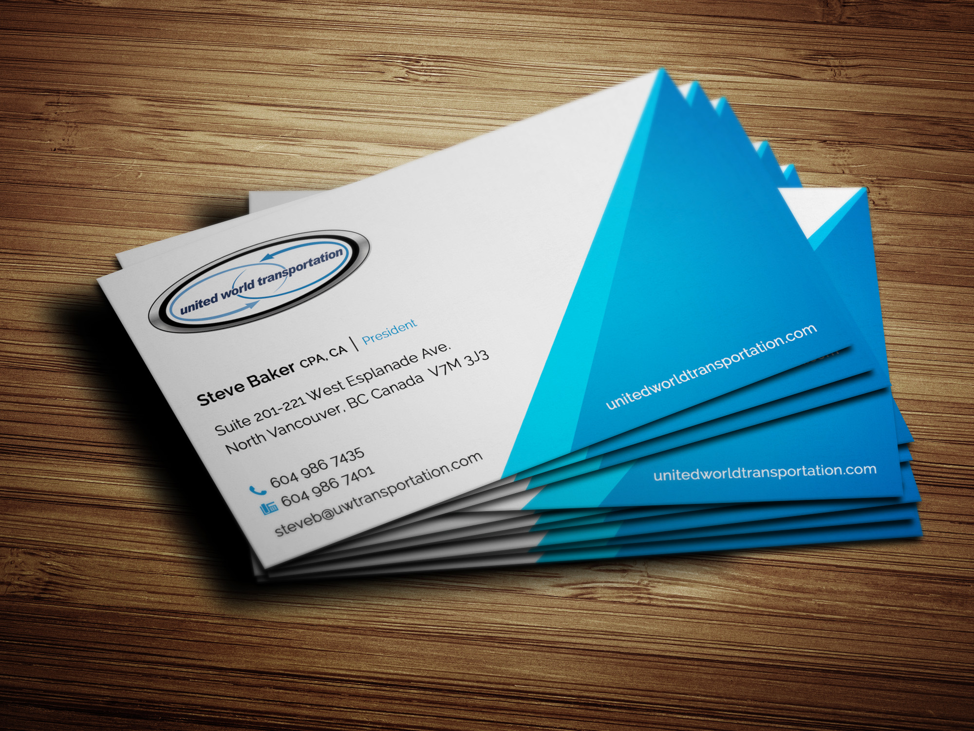 Business Card Design for UWT