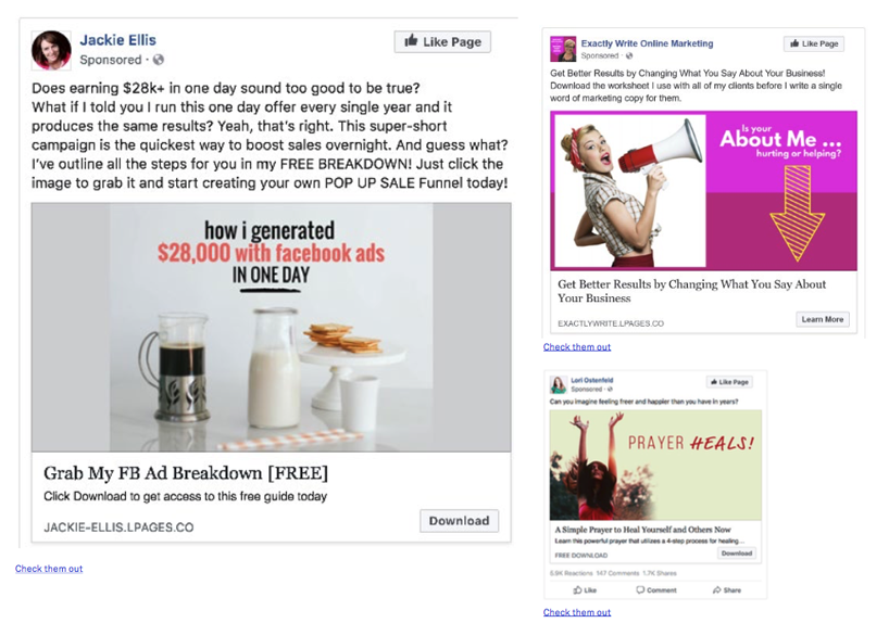 best facebook ad examples hand